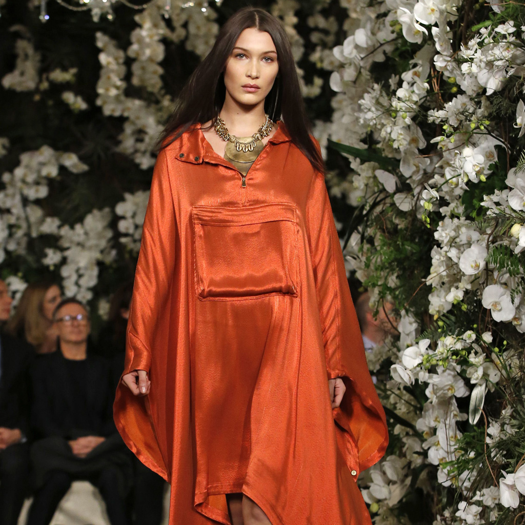 Ralph Lauren mixes sandy shades with jewel tones at New York Fashion Week